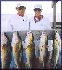 Captains Fred and Janie Petty have been guiding saltwater fishing trips on the shallows of the Lower Laguna Madre for over 25 years